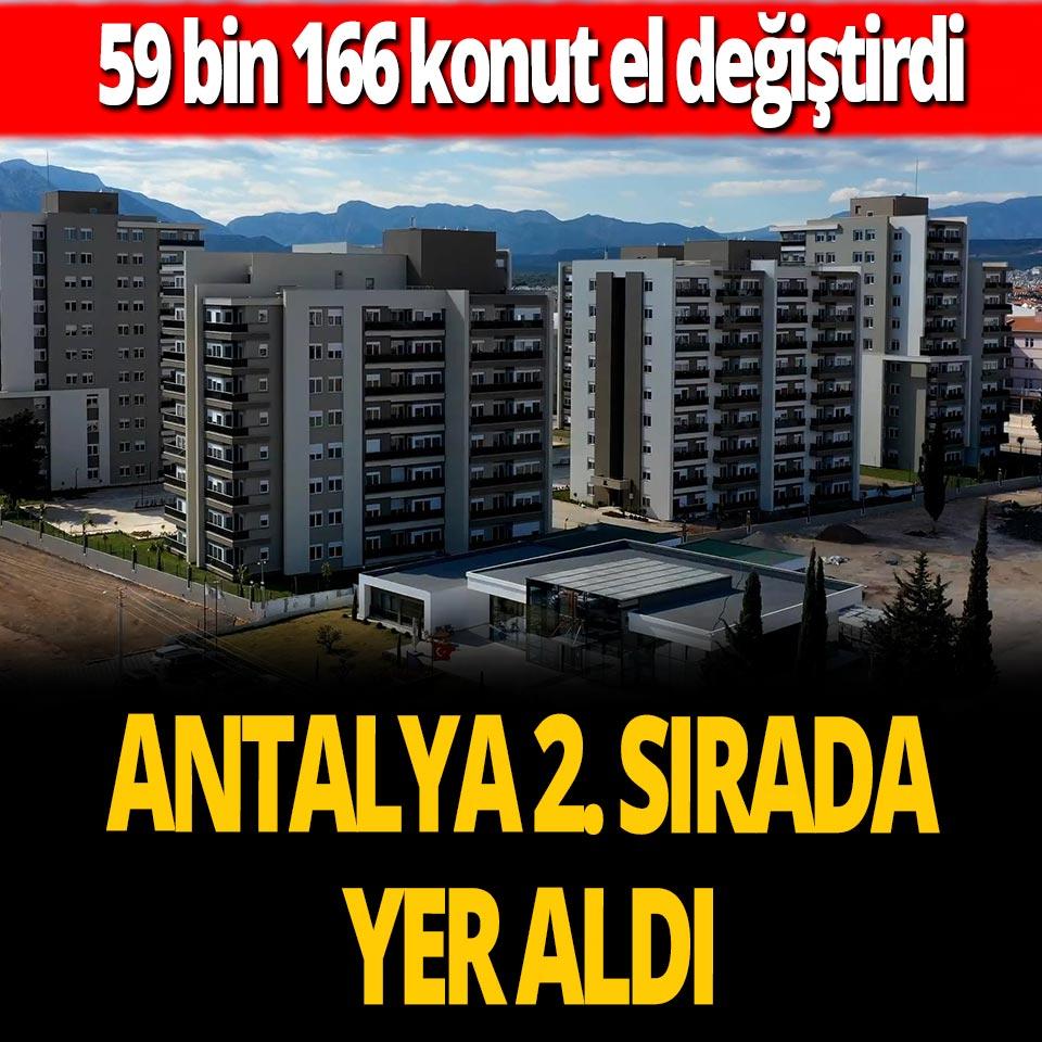 Antalya yabancılara konut satışında ikinci sırada yer aldı