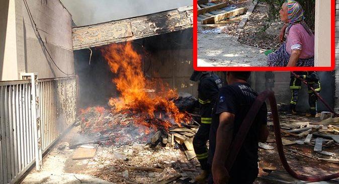 Antalya'da ev ve depo yangını! Anne gözyaşlarına boğuldu