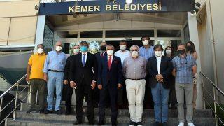 Kazakistan Büyükelçisi Saparbekuly'den Başkan Necati Topaloğlu'na ziyaret