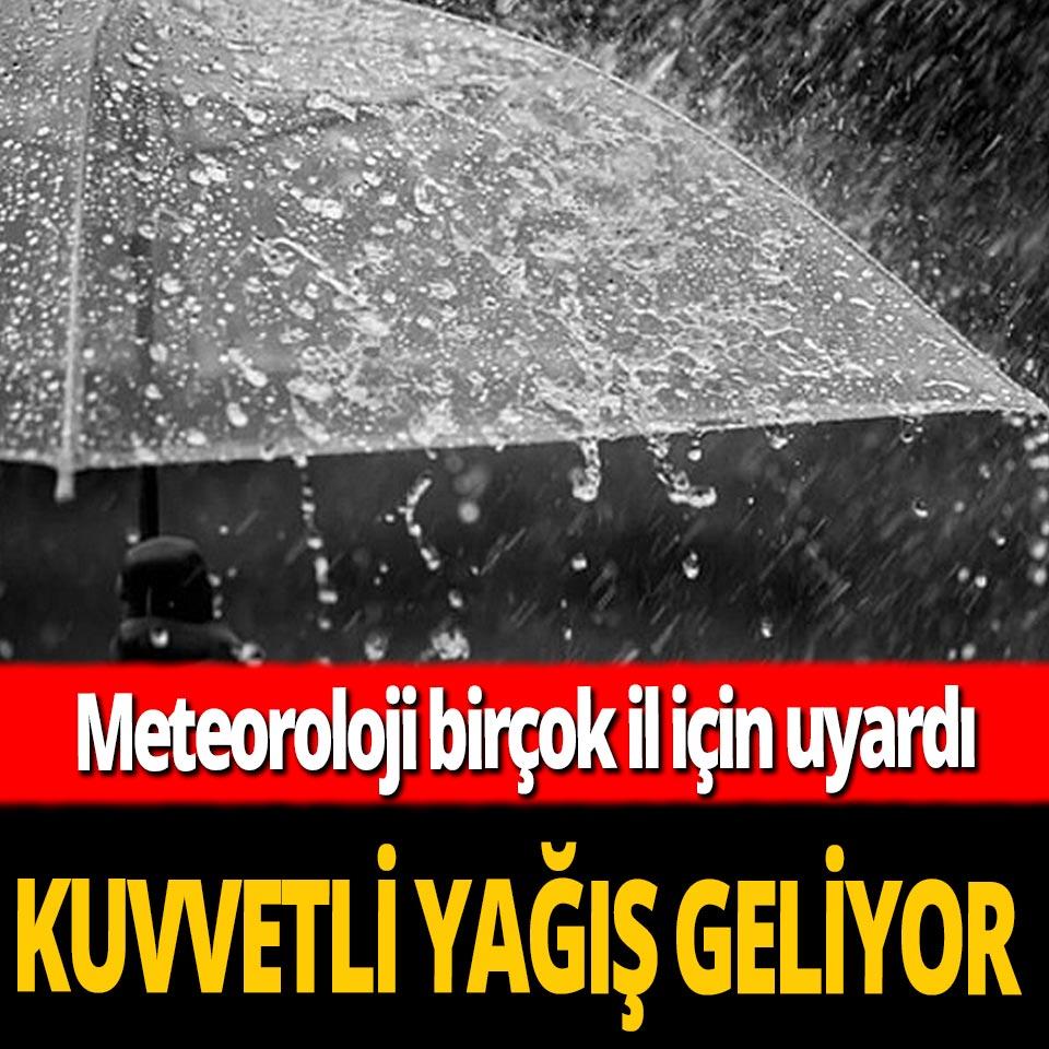 Meteoroloji'den birçok il için şiddetli yağış uyarısı