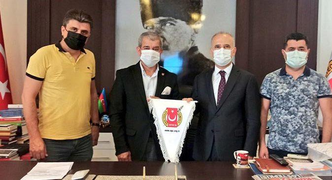 AGC Başkanı Mevlüt Yeni, Antalya Cumhuriyet Başsavcısı Halil İnal'ı ağırladı