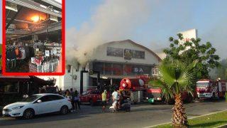 Antalya'da itfaiyeciler zor anlar yaşadı! Zincir markette yangın paniği