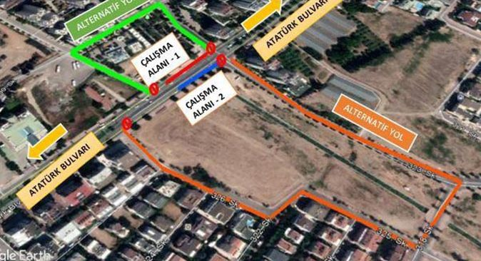 Antalyalılar dikkat! Atatürk Bulvarı'nın bir kısmı trafiğe kapatılacak