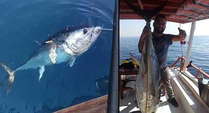 Antalya'da balıkçı Yusuf Kara'nın oltasına takıldı! Tam 130 kilo