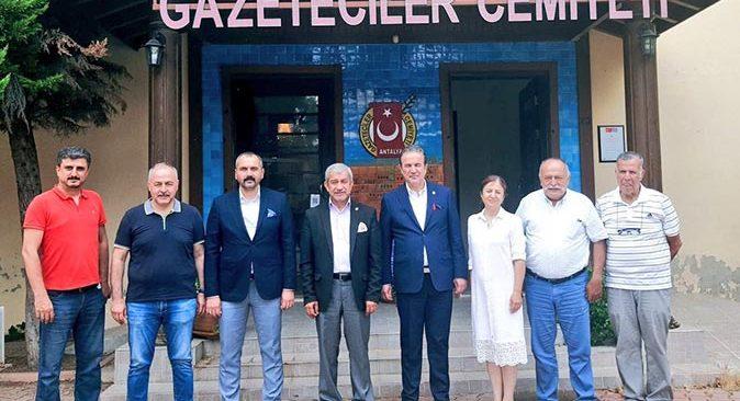 MHP Milletvekili Abdurrahman Başkan ve İl Başkanı Hilmi Durgun'dan AGC'ye ziyaret