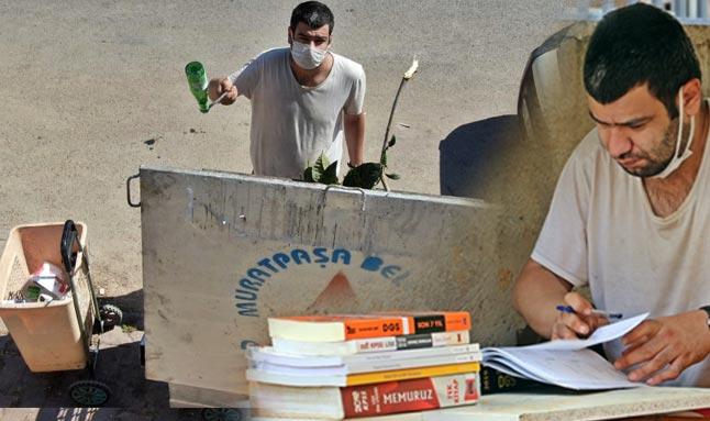 Antalya'da çöp toplayarak KPSS'de Türkiye 25'incisi oldu! Şimdi ki hedefi Hukuk Fakültesi