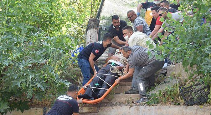 62 yaşındaki Mehmet Genç dere yatağına düştü! Herkes seferber oldu