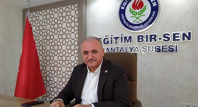 Eğitim Bir Sen Antalya Şube Başkanı Eyüp Bülent Miran: Ek 40 bin atama yapılması gerekiyor