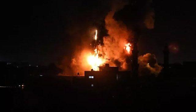 Son dakika! İsrail'den Gazze Şeridi'ne hava saldırısı