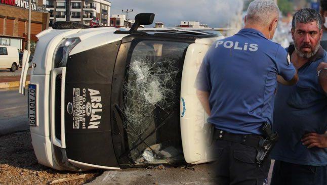 Alkollü sürücü kaza yaptı! Ortalık karıştı...
