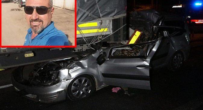 Alkollü sürücü Ahmet Bozkurt feci kazada hayatını kaybetti