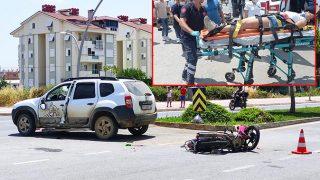 Antalya'da motosiklet ters yöne giren cipe çarptı! Sürücü Asya Kileci ağır yaralandı