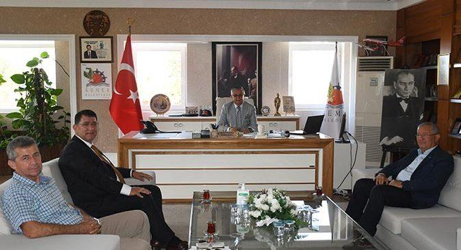 AESOB Başkanı Adlıhan Dere'den Başkan Necati Topaloğlu'na ziyaret