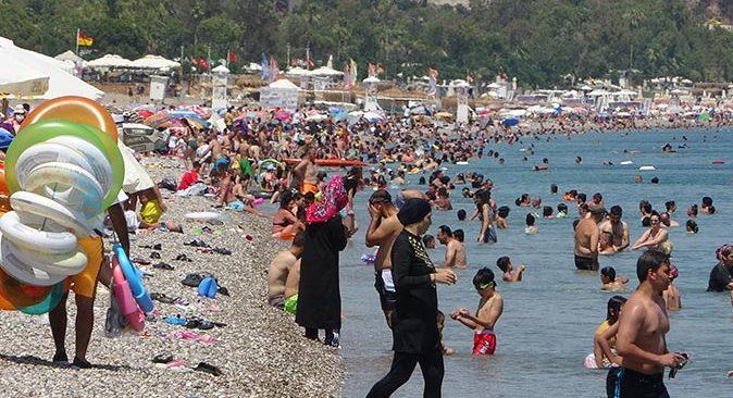Antalya'da sınavdan çıkan denize koştu