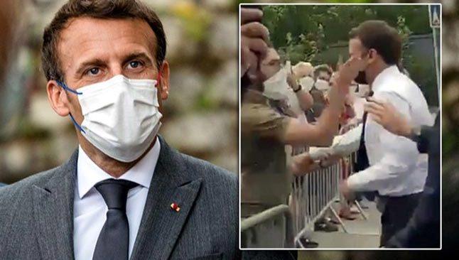 Fransa Cumhurbaşkanı Macron, seçim kampanyası için gitti, tokatlandı