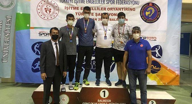 İşitme Engelliler Oryantiring Türkiye Şampiyonasında Yusuf Avşar Türkiye şampiyonu oldu