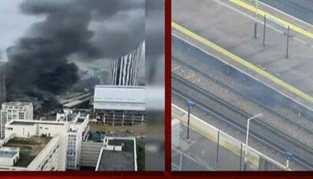 Londra'da tren istasyonunda korkutan yangın ve patlama