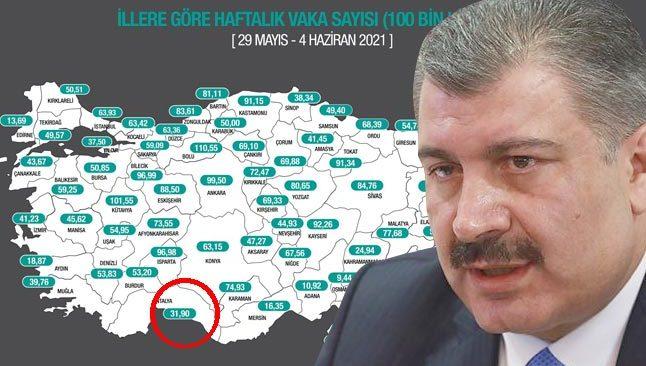 Son Dakika: Fahrettin Koca, güncellenen insidans haritasını paylaştı...