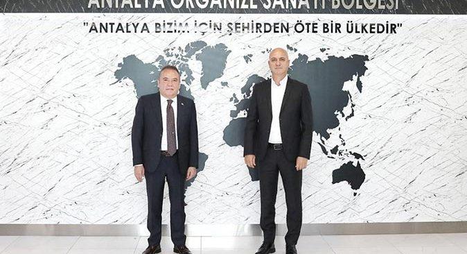Başkan Muhittin Böcek, OSB Başkanı Ali Bahar'la buluştu