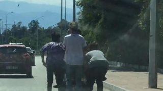Antalya'da gençlerin tehlikeli yolculuğu yürekleri ağza getirdi