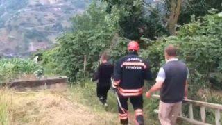 Trabzon'da porsuk kurtarma operasyonu