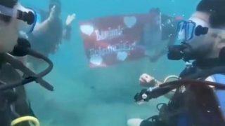 Antalya'da romantik evlilik teklifi