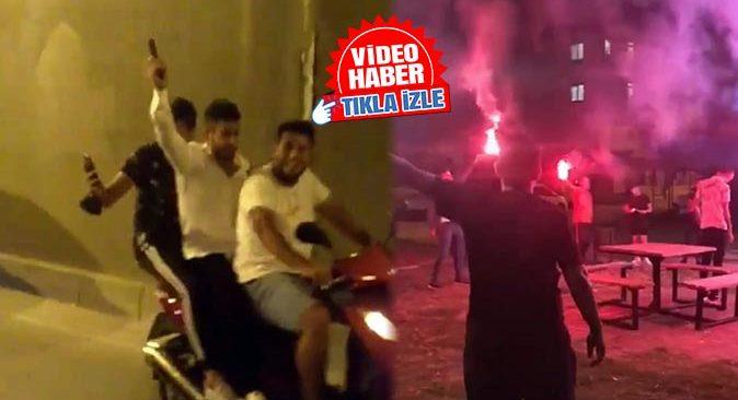 Antalya'da asker eğlencesi yapan gençler tehlike saçtı