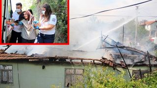 Antalya'da müstakil ev alev alev yandı! Yaşlı kadını komşuları kurtardı