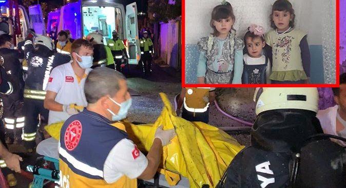 Konya'da müstakil evde yangın! 3 küçük kardeş hayatını kaybetti