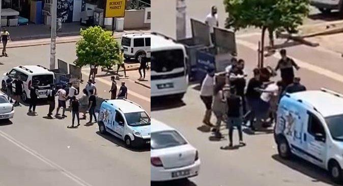 Antalya'da cadde ortasında yumruk yumruğa kavga ettiler
