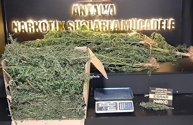 Antalya'da operasyon! Çok sayıda uyuşturucu madde ele geçirildi