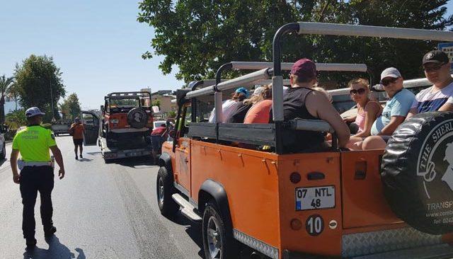 Alanya'da safari araçları denetlendi