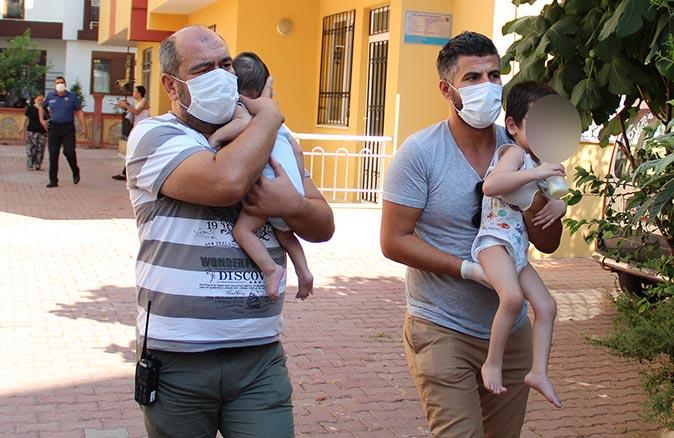 Antalya'da 4 küçük çocuk evde kendinden geçmiş halde bulundu