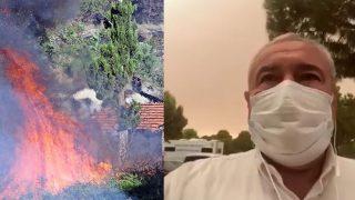 ATSO Başkanı Davut Çetin, 'Orman yangını Serik girişine kadar geldi'
