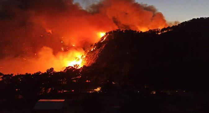 Akseki'de orman yangını! Alevler Katran Dağı'na sıçradı