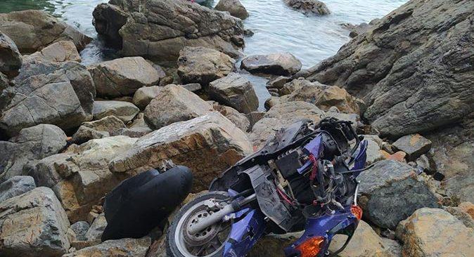 Cengizhan Tutka'nın kullandığı motosiklet uçuruma yuvarlandı