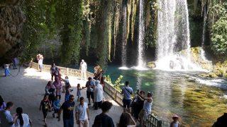 Düden Şelalesi bayramda 100 bin ziyaretçiyi ağırladı
