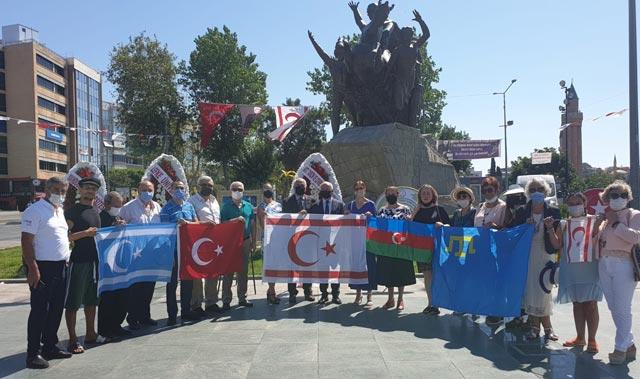 KKTC'nin20 TemmuzBarış ve Özgürlük Bayramı Antalya'da coşku ilekutlandı