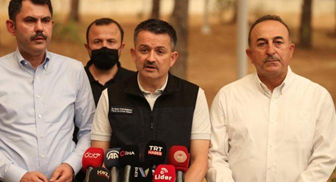 Bakan Bekir Pakdemirli 57 yangının kontrol altında olduğunu açıkladı