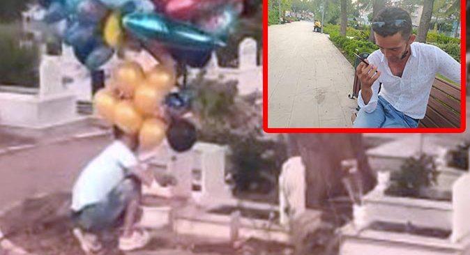 Çocukların mezarına balon bırakan Sait Kocakaya'nın telefonları susmadı