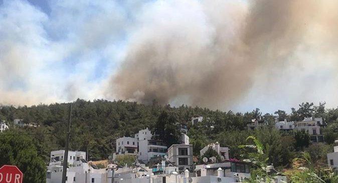 Bodrum'da yangın felaketi devam ediyor