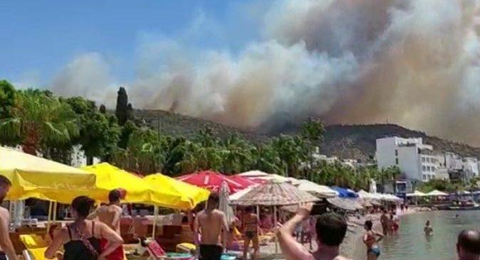 Bodrum'da yangın büyüyor! Otel ve evler boşaltılıyor