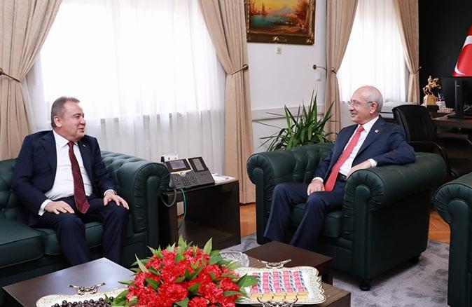 Başkan Muhittin Böcek, Kemal Kılıçdaroğlu ile görüştü