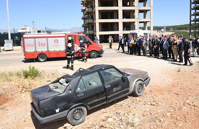 Antalya'da deprem tatbikatı! Ekipler hızla müdahale etti