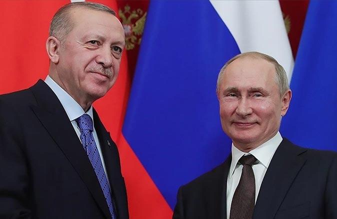 Cumhurbaşkanı Erdoğan ile Putin telefonda görüştü