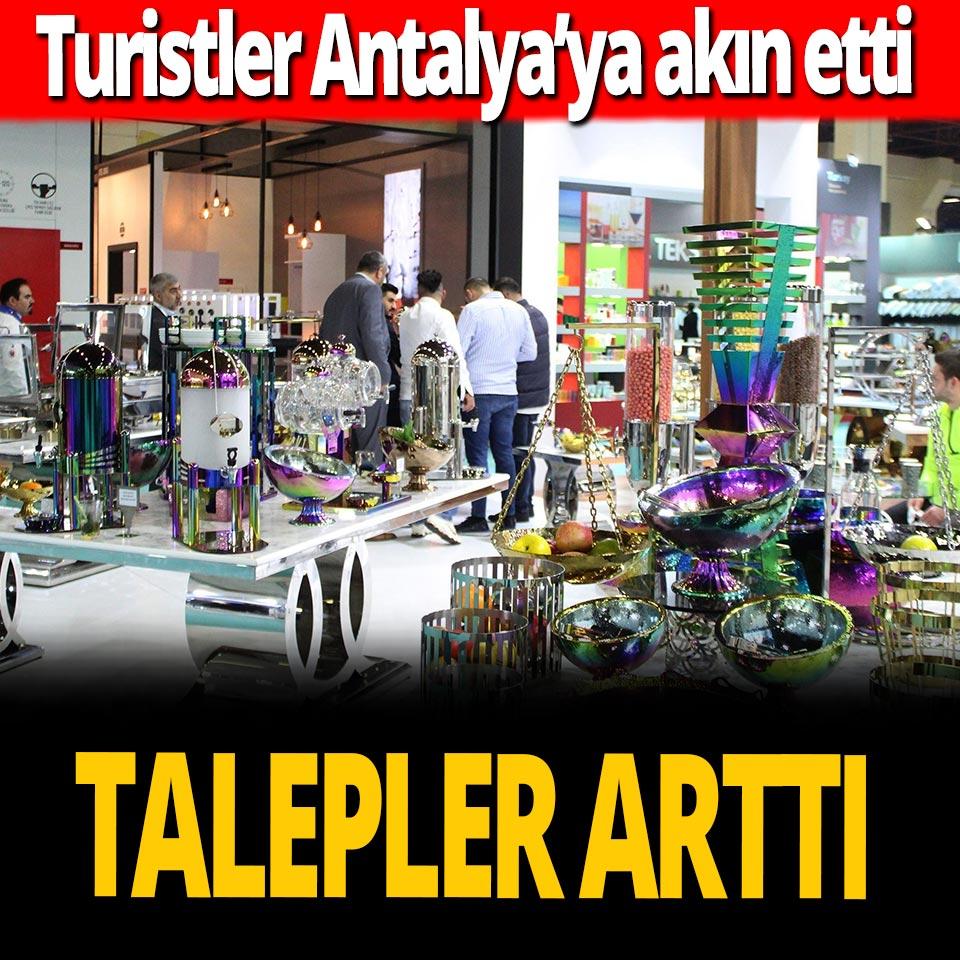 Antalya'da turist sayısı ile birlikte fuarlara olan talep de arttı