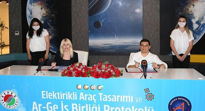 Akdeniz Üniversitesi ve Kepez Belediyesi arasında elektrikli otomobil protokolü