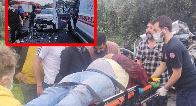 Bursa'da katliam gibi kaza! Kafa kafaya çarpıştılar