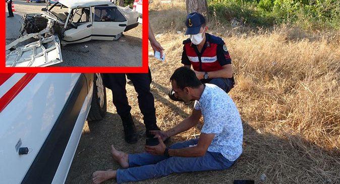 Antalya'da feci kazada yolcu camdan fırladı! Sürücü ekiplere zor anlar yaşattı