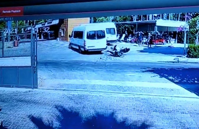 Antalya'da motosiklet sürücüsü Sinan Ceylan ölümden döndü